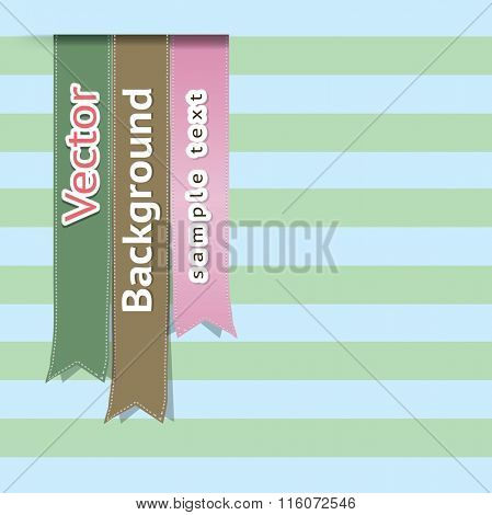 Vector set of ribbons bookmarks