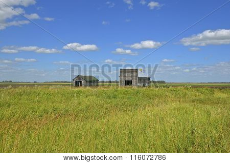 Sheds on the prairie