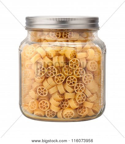 Mini Wheel Pasta In A Glass Jar