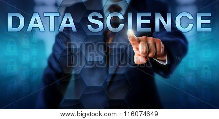 Manager Touching Data Science Onscreen