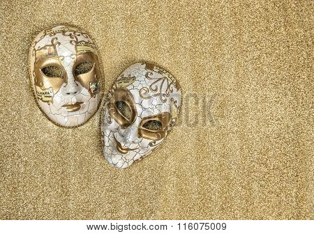Carnival Mask Harlequin. Mardi Gras. Holidays Background