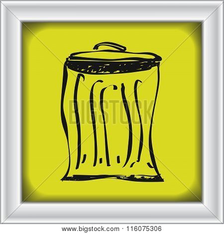 Simple Doodle Of A Rubbish Bin