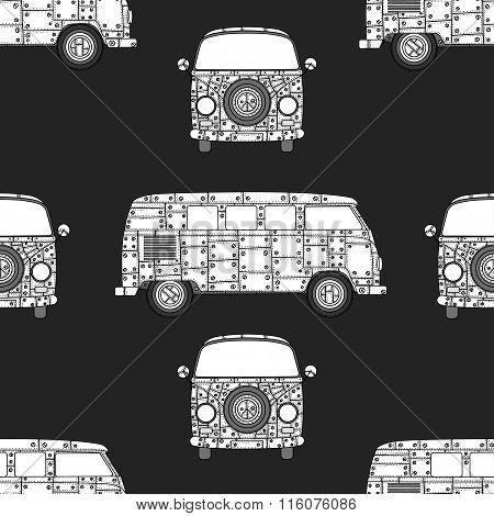 Pattern Of Vintage Car