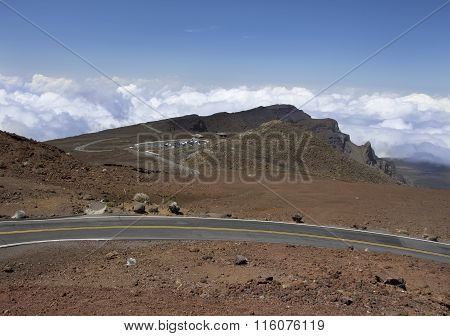 Road At Haleakala National Park, Maui, Hawaii