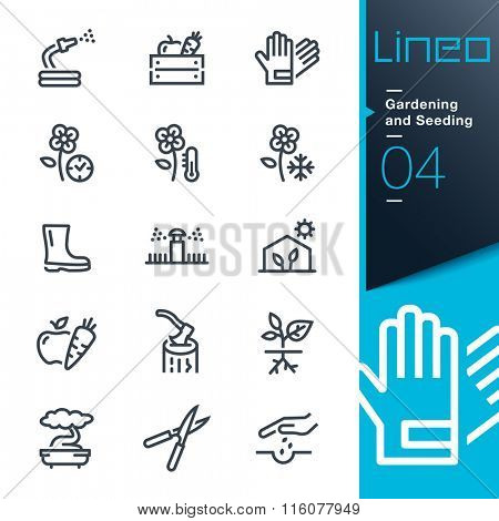 Lineo - Gardening and Seeding line icons