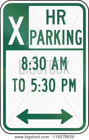 Road Sign Used In The Us State Of Delaware - Parking Sign
