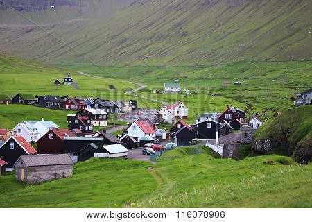 Old houses in the Faroe Islands