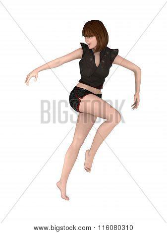 Digital Woman Jumping