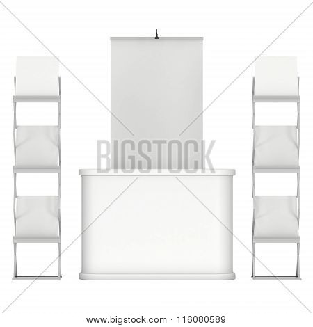 Trade Show Booth And Magazine Rack