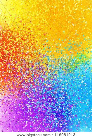 Bright sprayed paint rainbow colors abstract vertical background