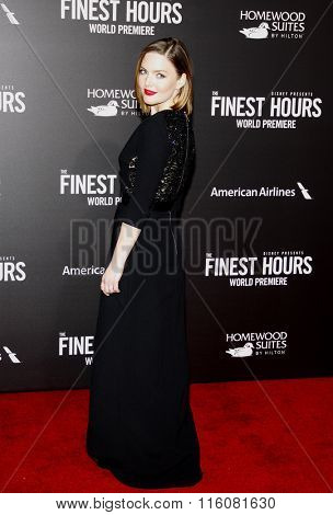 Holliday Grainger at the World premiere of 'The Finest Hours' held at the TCL Chinese Theatre in Hollywood, USA on January 25, 2016.