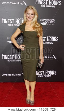 Charlotte Ross at the World premiere of 'The Finest Hours' held at the TCL Chinese Theatre in Hollywood, USA on January 25, 2016.