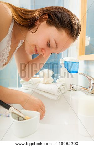 Woman Cleaning Washing Hands. Hygiene.