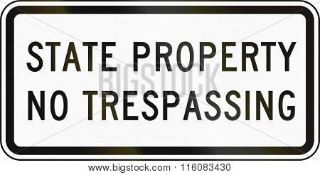 Road Sign Used In The Us State Of Delaware - Prohibitory Sign
