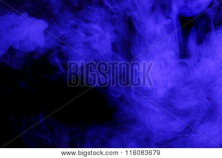 Abstract Blue Smoke Hookah.
