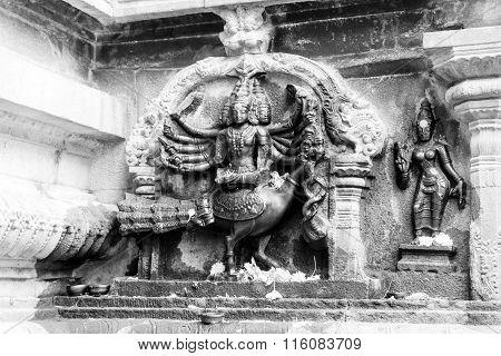 THANJAVUR January 25th, 2016 - Statue of Lord Skanda at Brihadeeswarar Temple