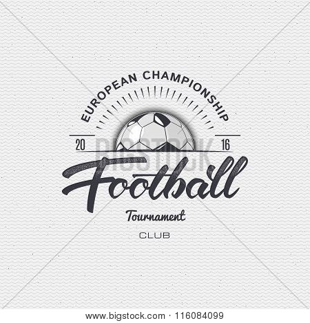 Football, Soccer tournament, championship, league Hand lettering badges labels can be used for desig