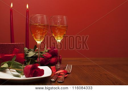 romantic valentine dinner