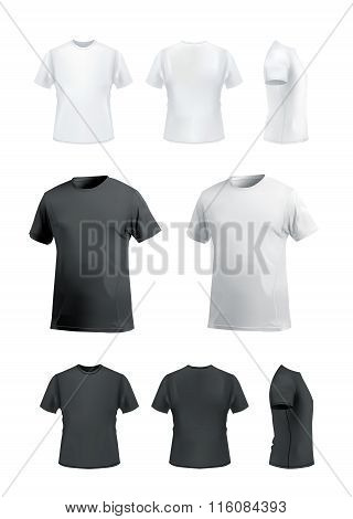 T-shirt mockup set on white background