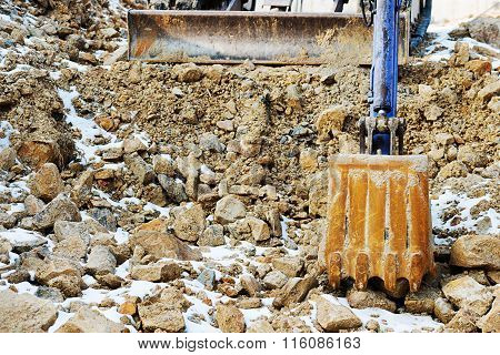 Small Bulldozer Excavator.