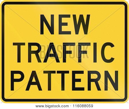 Road Sign Used In The Us State Of Delaware - New Traffic Pattern