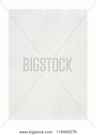 Paper Sheet Over A White Background.