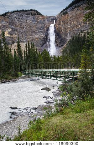 Takakkaw Falls in Yoho National Park British Columbia Canada.