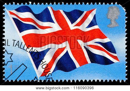 Britain Union Jack Postage Stamp
