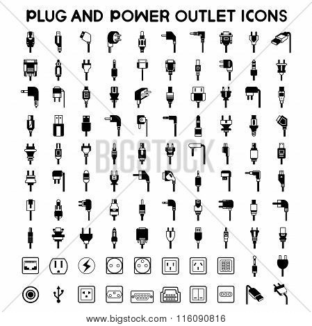 plug icons, outlet icons