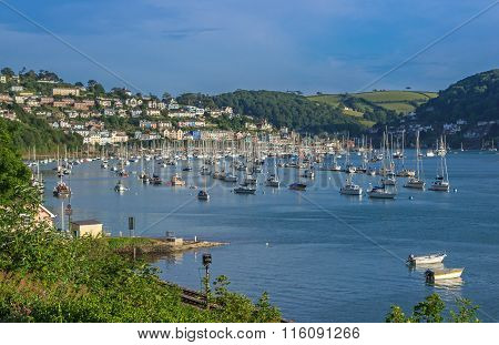 Yachts on the Dart Estuary
