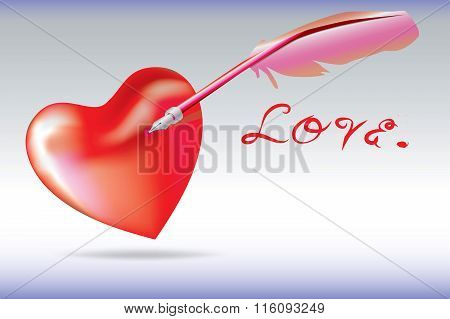 Quill Pen Dip Your Heart