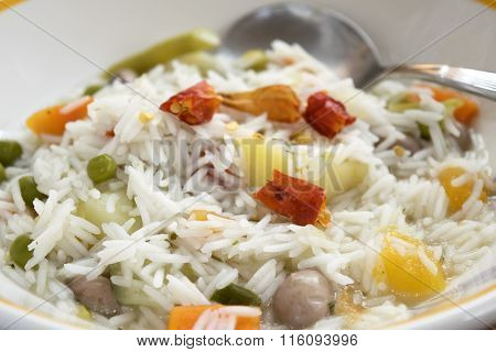 Basmati Ricewith Vegetable Minestrone