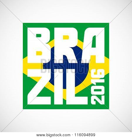 Brazil abstract background in color of flag. Design for covers, brochure, advertising banner