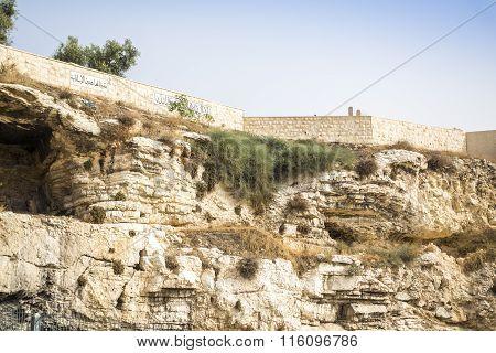Golghota Known As Garden Tomb, Jerusalem, Israel