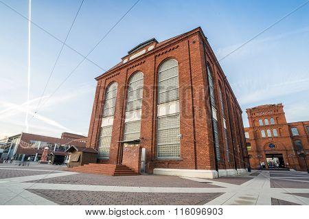 Post Industrial, Revitalized Brick Buildings.