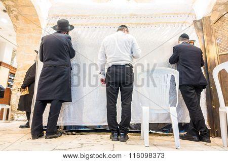 In Jewish Synagogue In Jerusalem, Israel