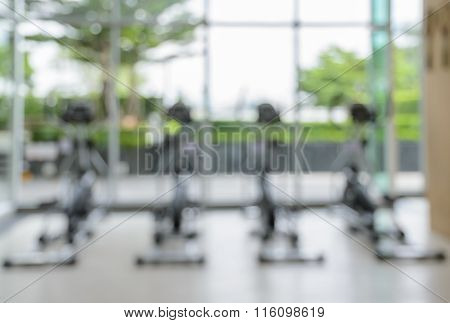 Modern Fitness Center Abstract Blur Background