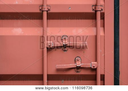 Door Of Cargo Container Box Background