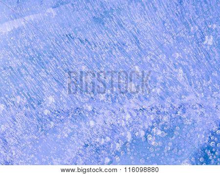 Transparent Thin Blue Ice