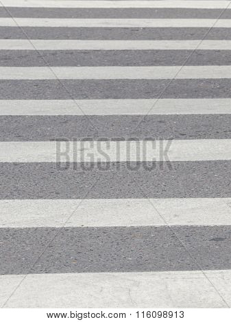 Zebra Pedestrian Crossing On The Road