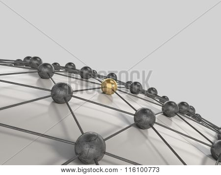Network concept 3d render