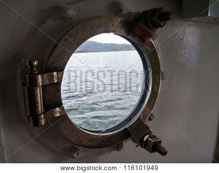 Old Boat Window From Inside