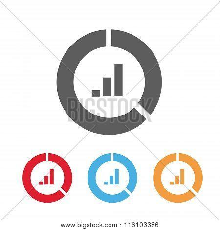 Chart icon flat style
