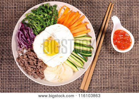 bibimbap,korean food