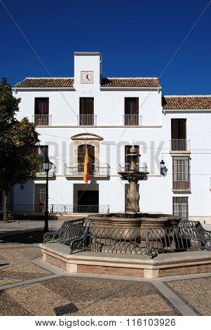 Fountain in town square, Estepa.