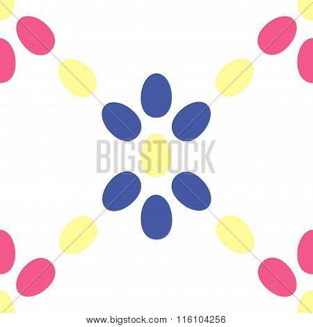 Geometrical star seamless pattern. Colored eggs