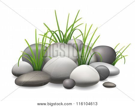 Stones And Green Grass