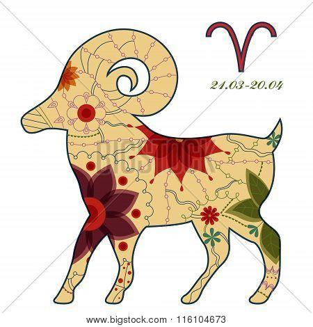 Aries zodiac sign retro