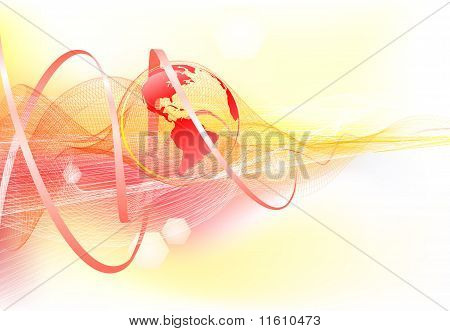 Abstract Background With World Globe