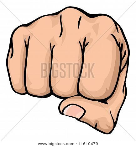 A Fist Punching Towards You
